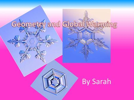 By Sarah. Introduction I am doing my project on global warming, to see why people think it has effected the earth today. This presentation will be mainly.