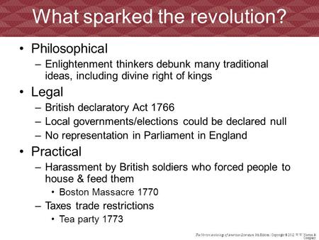 What sparked the revolution?