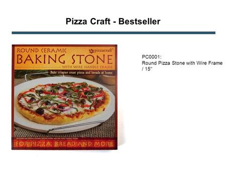 Pizza Craft - Bestseller PC0001: Round Pizza Stone with Wire Frame / 15