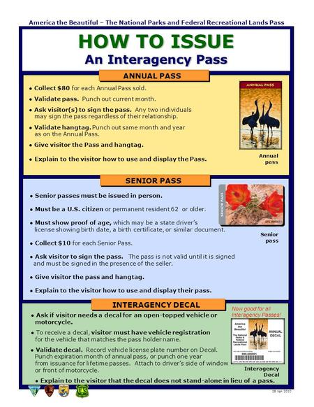 HOW TO ISSUE An Interagency Pass