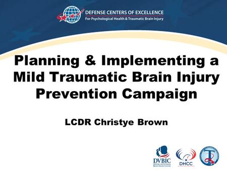 Planning & Implementing a Mild Traumatic Brain Injury Prevention Campaign LCDR Christye Brown.