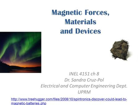 Magnetic Forces, Materials and Devices