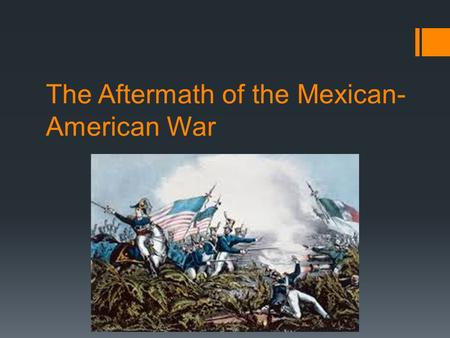 the impact of sectionalism in the mexican american war Unlike most editing & proofreading services, we edit for everything: grammar, spelling, punctuation, idea flow, sentence structure, & more get started now.