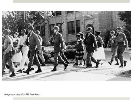 Image courtesy of SMBS Teen Press. Remembering the Struggle 60 Years Later: Brown v. Board of Education.