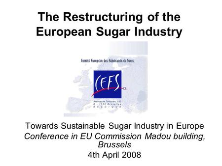 impact of the sugar regime reform Calculation of the likely impact on sugar beet gross margins and farm income suggest that many producers will want to exit sugar beet production in light of this, the implications and possible strategies for growers and irish sugar are discussed.