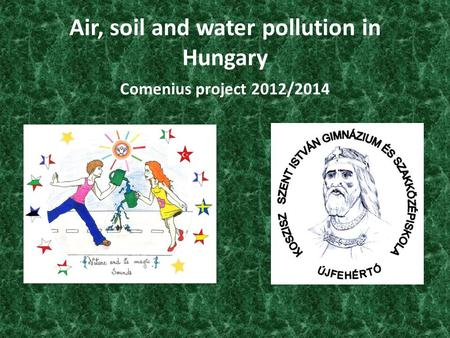Air, soil and water pollution in Hungary Comenius project 2012/2014 1.