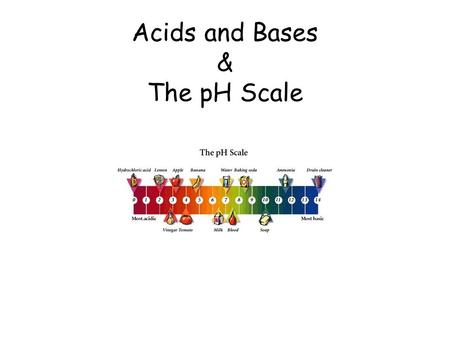 Acids and Bases & The pH Scale