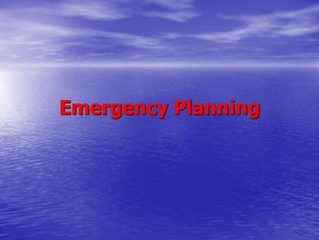 Emergency Planning. Legal Duty of Care Rotherham Metropolitan Borough Council has a legal duty of care placed upon it under the requirements of the Civil.