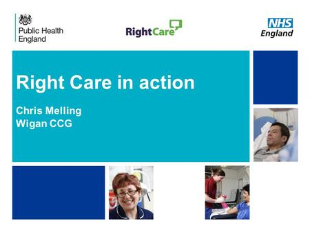 NHS | Presentation to [XXXX Company] | [Type Date]1 Right Care in action Chris Melling Wigan CCG.