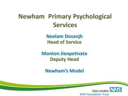 Newham Primary Psychological Services