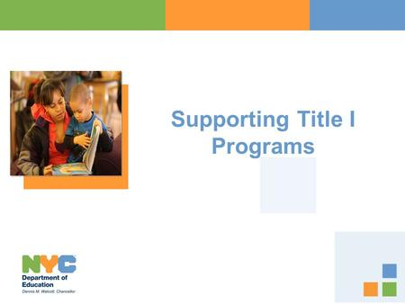 Supporting Title I Programs
