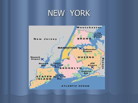 NEW YORK. New York New York New York often called the Big Apple, has five boroughs : MANHATTAN, New York often called the Big Apple, has five boroughs.