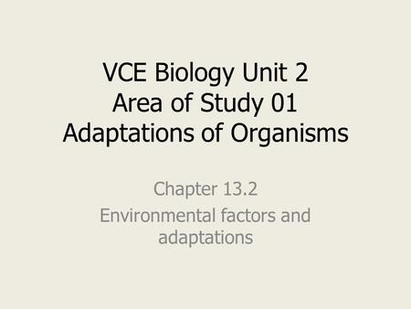 an analysis of organism adaption Create a creature: exploring adaptations  they will begin to brainstorm their own organism with adaptations suited to its  ela â» poetry analysis .