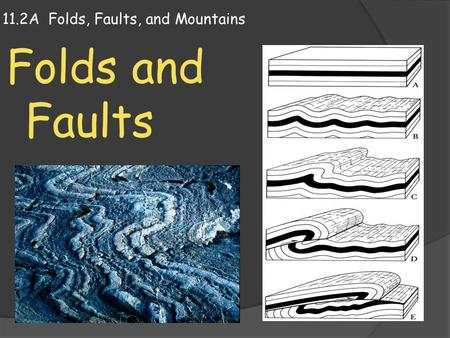 11.2A Folds, Faults, and Mountains Folds and Faults.