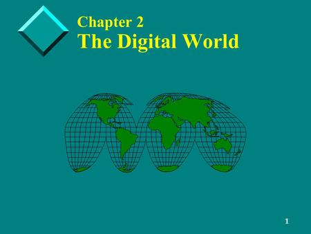 1 Chapter 2 The Digital World. 2 Digital Data Representation.