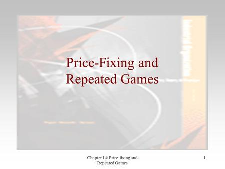 Price-Fixing and Repeated Games