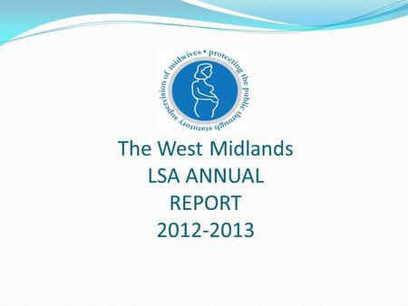 The West Midlands LSA ANNUAL REPORT 2012-2013. The West Midlands LSA Team The LSA Team Barbara Kuypers LSAMO Lisa Wilkes P.A. to LSAMO Supported by Link.
