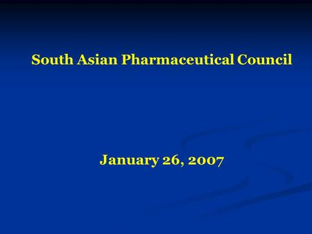 South Asian Pharmaceutical Council