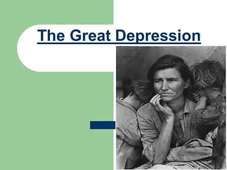 The Great Depression. The Great Depression- 1929 to 1941 In 1928, Herbert Hoover is elected President.