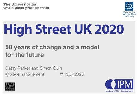 50 years of change and a model for the future Cathy Parker and Simon #HSUK2020.