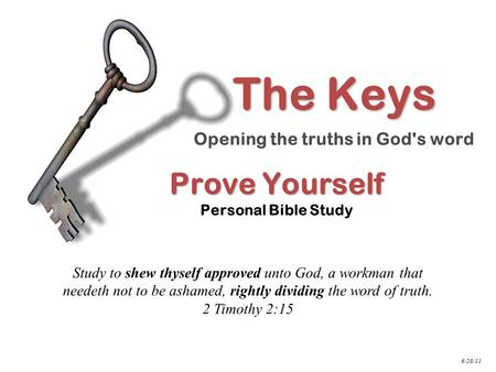 Prove Yourself Personal Bible Study