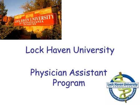 Physician Assistant Program
