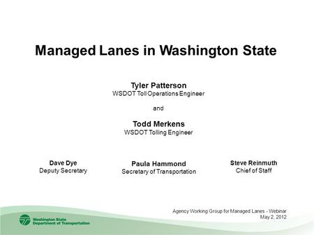 Managed Lanes in Washington State