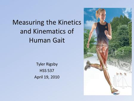 Measuring the Kinetics and Kinematics of Human Gait Tyler Rigsby HSS 537 April 19, 2010.