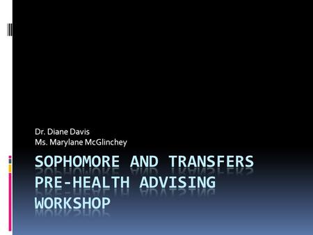 Dr. Diane Davis Ms. Marylane McGlinchey. What is the Health Professions Advising Program? (HPAP)  Director, Dr. Diane Davis  Advisors and support structure.