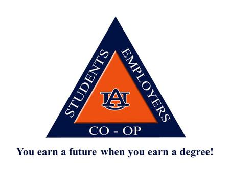 You earn a future when you earn a degree!. MIS / FINC Gulf Power Co. Pensacola, FL.
