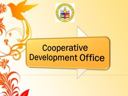  The Cooperative Development Office (CDO) of the City of Pasig was organized way back in 1996 largely through the efforts of then City Councilor Cesar.