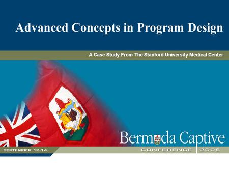 Advanced Concepts in Program Design A Case Study From The Stanford University Medical Center.