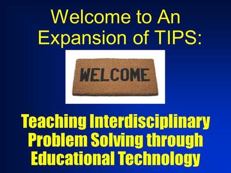 Interdisciplinary problem solving