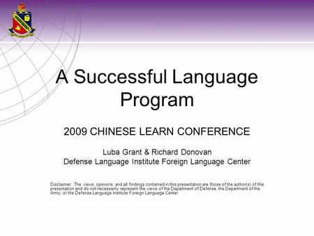 A Successful Language Program