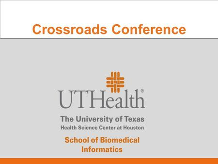 Crossroads Conference. Susan H. Fenton, PhD, RHIA Asst. Dean for Academic Affairs UT School of Biomedical Houston ICD-10 Industry Update.