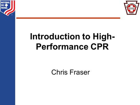 BRADY Chris Fraser Introduction to High- Performance CPR.