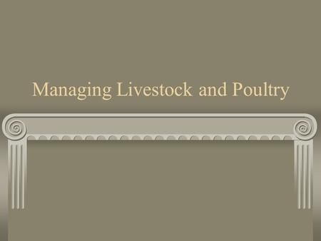 Managing Livestock and Poultry. Swine types of housing Pasture or outdoor without climate controlled buildings.