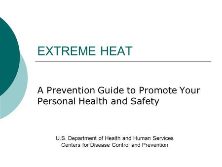 A Prevention Guide to Promote Your Personal Health and Safety