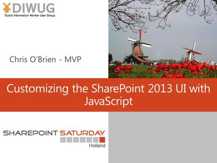 Customizing the SharePoint 2013 UI with JavaScript.