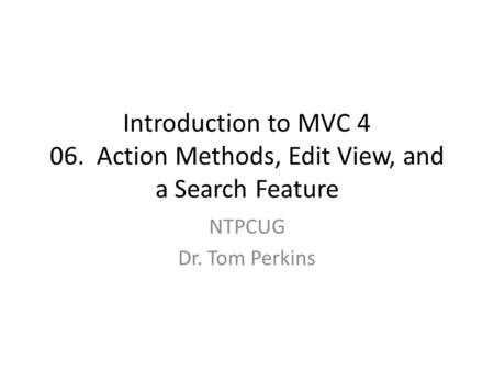 introduction to mvc Join jess chadwick for an in-depth discussion in this video, introduction to razor (aka the @ symbol), part of aspnet mvc 4 essential training.