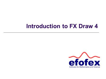 "Introduction to FX Draw 4. Flyout Toolbars Any tool with a red triangle hides a ""flyout"" toolbar containing extra tools. Click and hold the left mouse."