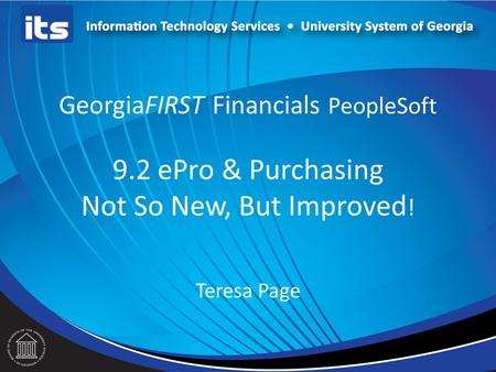 GeorgiaFIRST Financials PeopleSoft 9