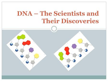 DNA – The Scientists and Their Discoveries. Frederick Griffith (1928) Experiment – worked with bacteria and injected into mice Conclusion – transforming.