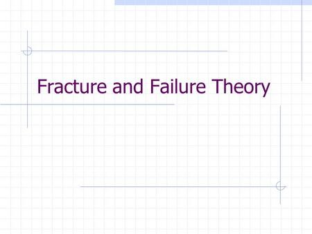 Fracture and Failure Theory. Defining Failure Failure can be defined in a variety of ways: Unable to perform the to a given criteria Fracture Yielding.
