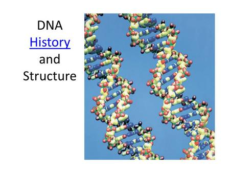 DNA History and Structure History. Friedrich Miescher  Published in 1871  First to isolate and identify DNA and suggested its role in heredity.