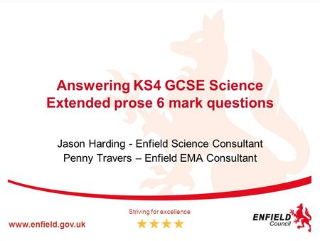 Answering KS4 GCSE Science Extended prose 6 mark questions