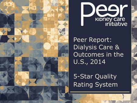 | 1| 1Peer Report: Dialysis Care & Outcomes in the U.S., 2014 | 5-STAR QUALITY RATING SYSTEM Peer Report: Dialysis Care & Outcomes in the U.S., 2014 5-Star.