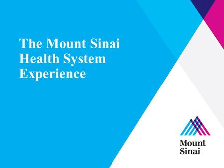 The Mount Sinai Health System Experience. What is PACT? The Preventable Admissions Care Team is… An intensive, short-term transitional care program.