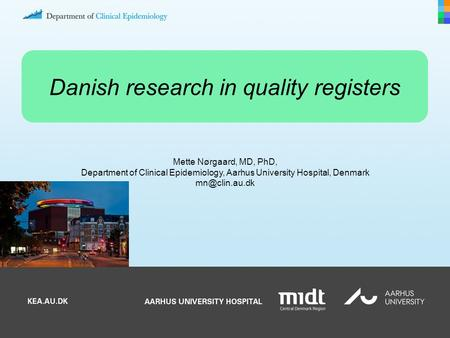 Danish research in quality registers