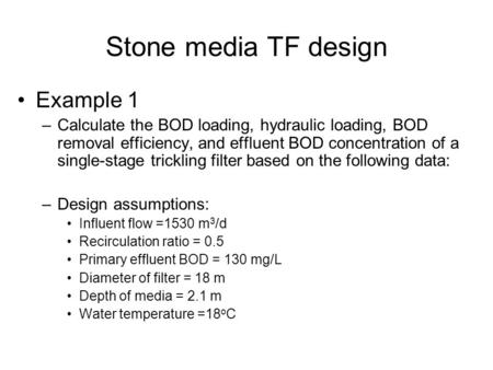 Stone media TF design Example 1